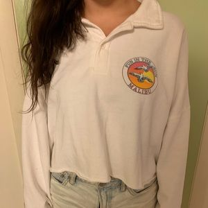 brandy melville cropped sweatshirt